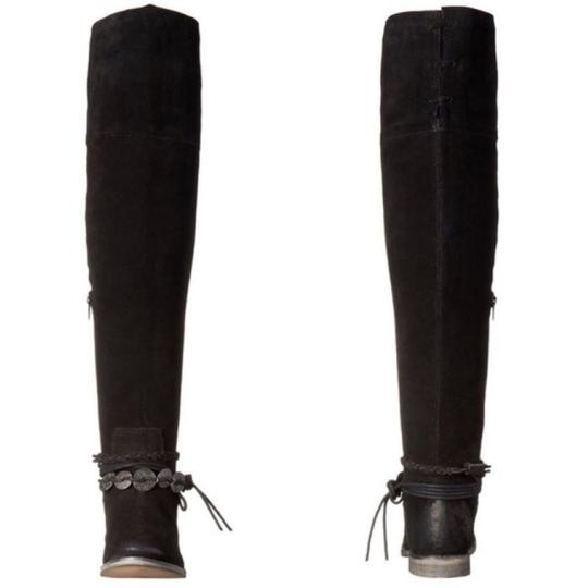 Musse & Cloud Suede Over-the-knee Burnished Flat Musse-cloud Black Boots Image 3