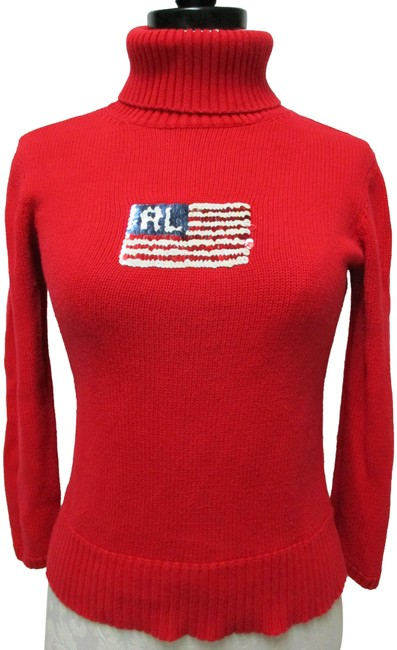 Preload https://img-static.tradesy.com/item/25655360/ralph-lauren-polo-jeans-sequined-flag-patriotic-vintage-size-s-red-sweater-0-1-650-650.jpg