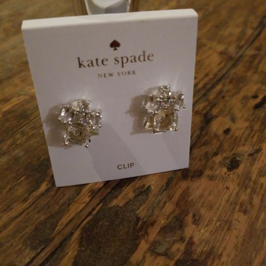 Kate Spade Kate Spade Clear Crystal Glass Make Me Blush Clip On Earrings Image 3