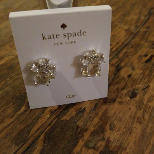 Kate Spade Kate Spade Clear Crystal Glass Make Me Blush Clip On Earrings Image 4