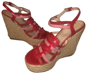 f040e470205 Red Saint Laurent Wedges Regular (M, B) Up to 90% off at Tradesy
