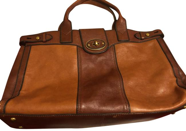 Item - Weekend/ Over Night Brown Leather Tote