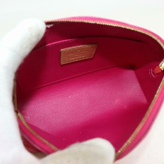 Louis Vuitton Vernis Ikat Cosmetic Pouch Rose Velours 870855 Image 2