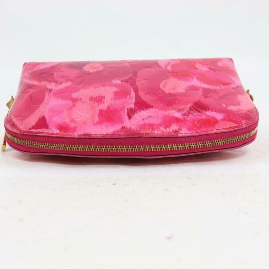Louis Vuitton Vernis Ikat Cosmetic Pouch Rose Velours 870855 Image 5