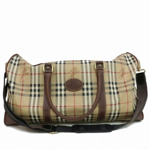 Burberry Boston Duffle Keepall Bandouliere Speedy Brown Travel Bag