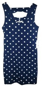 Forever 21 short dress Navy with Cream Polka Dots on Tradesy