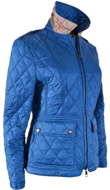 Item - Blue New Women's Ivymoore Quilted Zip Nova Check Jacket Size 8 (M)
