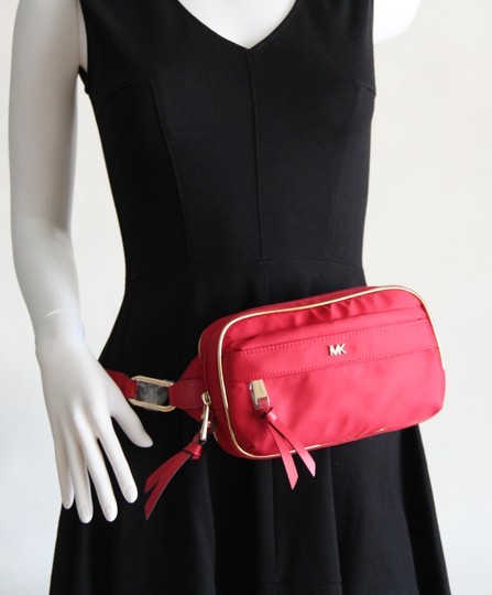 Michael Kors Michael Kors Nylon Utility Belt Bag Fanny Pack Red Image 11
