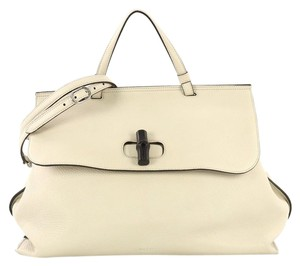 Gucci Bamboo Top Handle Satchel in neutral