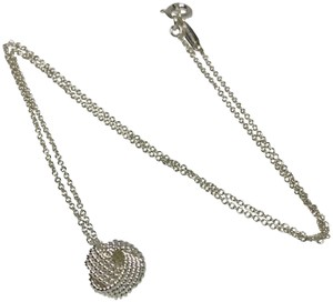 Tiffany & Co. Twist Knot Pendant On 16in Necklace Silver 925