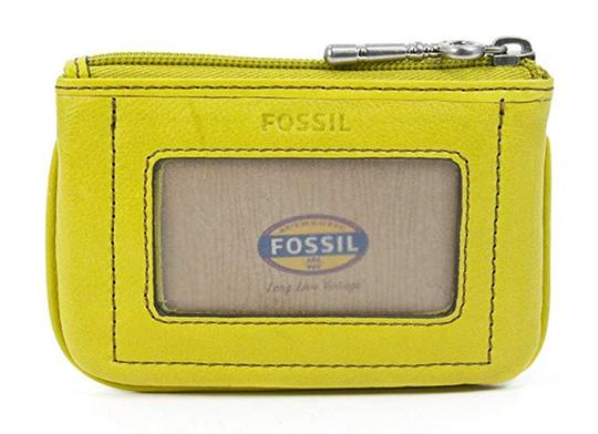 fossil Yellow Applique Bright Multi Leather Zip Coin Purse Wallet Image 1