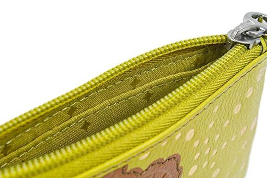 fossil Yellow Applique Bright Multi Leather Zip Coin Purse Wallet Image 2