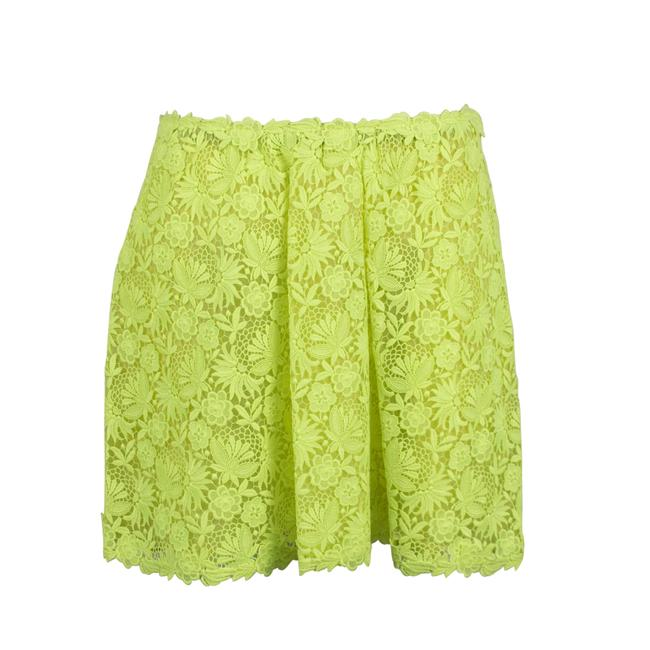 Preload https://img-static.tradesy.com/item/25657154/valentino-neon-yellow-floral-embroidered-skirt-size-8-m-29-30-0-0-650-650.jpg
