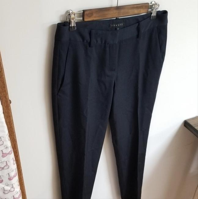 Theory Dress Size 6 Trouser Pants Navy Blue Image 2