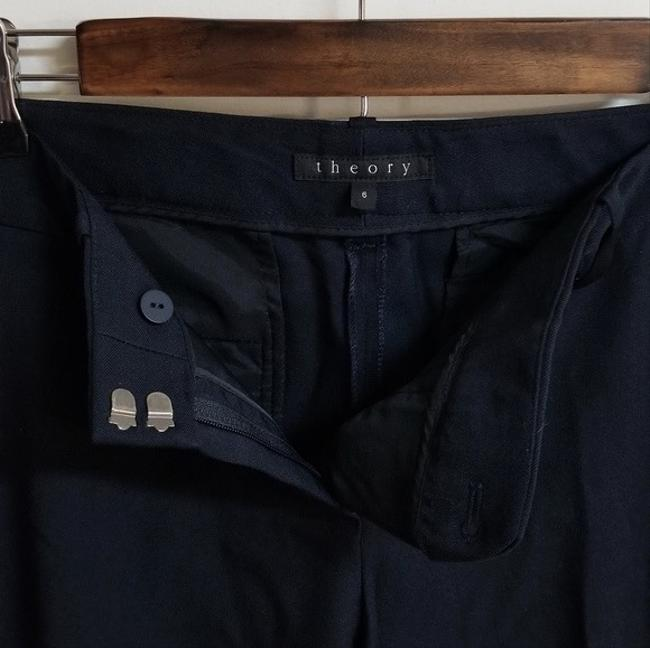 Theory Dress Size 6 Trouser Pants Navy Blue Image 4