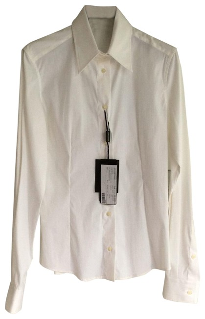 Item - White Ohf5288t Button-down Top Size 6 (S)