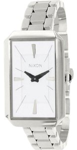 Nixon A284100 Women's Silver Steel Bracelet With White Analog Dial Watch