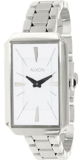 Preload https://img-static.tradesy.com/item/25657250/nixon-silver-a284100-women-s-steel-bracelet-with-white-analog-dial-watch-0-1-540-540.jpg