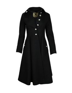 Burberry London Wool Pleated Trench Coat