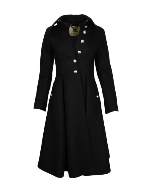 Preload https://img-static.tradesy.com/item/25657266/burberry-london-black-wool-fit-and-flare-pleated-coat-size-4-s-0-0-650-650.jpg