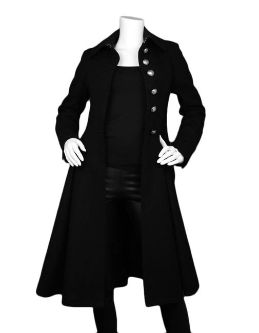 Burberry London Wool Pleated Trench Coat Image 1