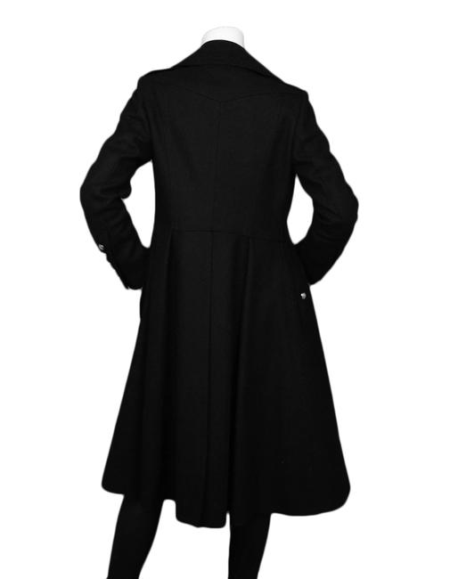 Burberry London Wool Pleated Trench Coat Image 2