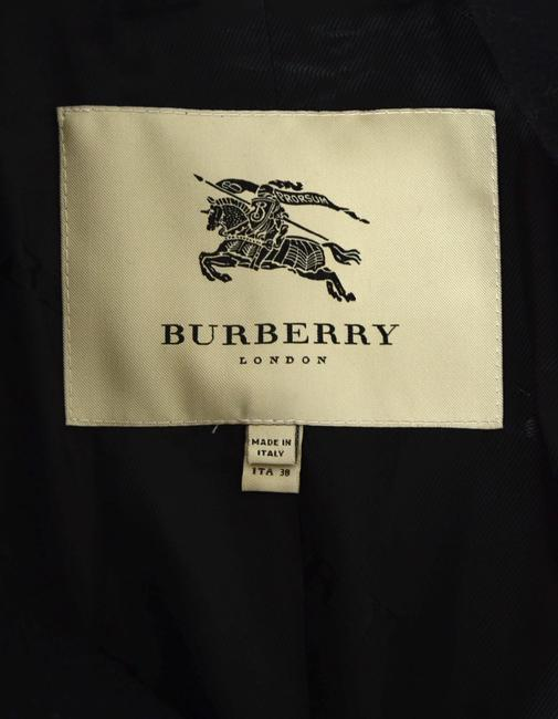 Burberry London Wool Pleated Trench Coat Image 3