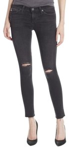 AG Distressed Casual Skinny Jeans-Distressed