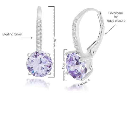 Other LIGHT AMETHYST ROUND LEVERBACK EARRINGS Image 3