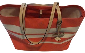 Kate Spade Tote in orange/white