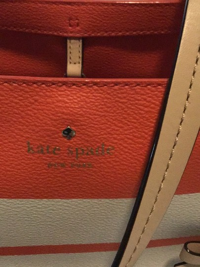 Kate Spade Tote in orange/white Image 1