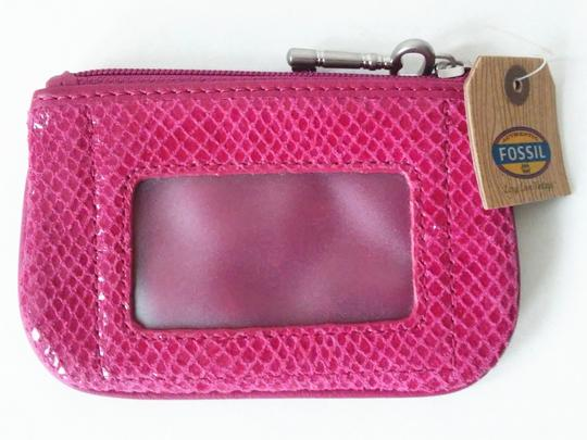 Fossil Fuchsia Perfect Zip Coin Purse Wallet Image 1