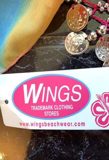 Wings Trademark Clothing Stores Chiffon hip scarf with coin Image 8