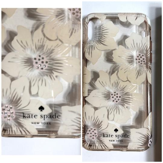 Kate Spade KATE SPADE NEW YORK CLEAR WITH OFF WHITE FLIRAL/RHINESTONE IPHONE X CASE Image 1