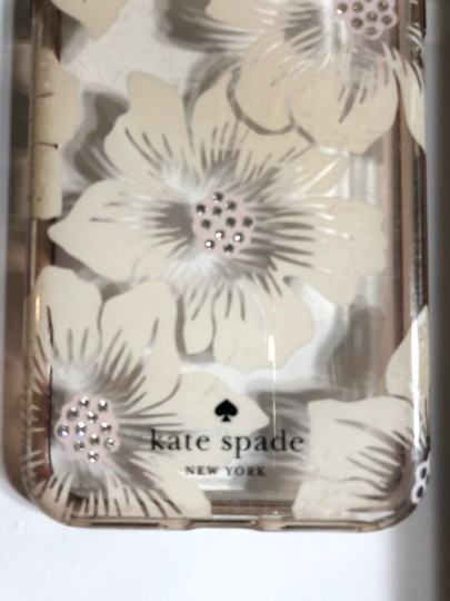 Kate Spade KATE SPADE NEW YORK CLEAR WITH OFF WHITE FLIRAL/RHINESTONE IPHONE X CASE Image 4