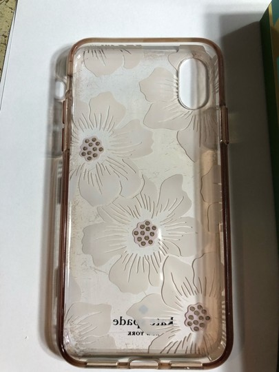 Kate Spade KATE SPADE NEW YORK CLEAR WITH OFF WHITE FLIRAL/RHINESTONE IPHONE X CASE Image 5