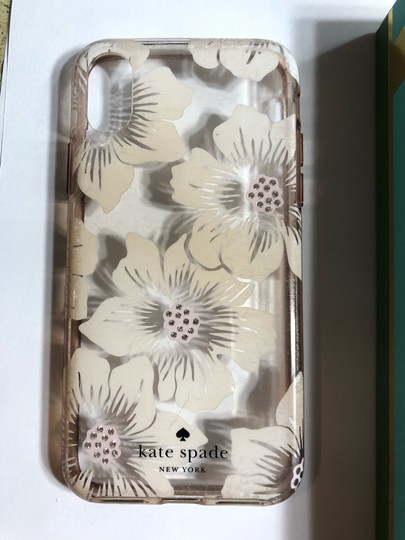 Kate Spade KATE SPADE NEW YORK CLEAR WITH OFF WHITE FLIRAL/RHINESTONE IPHONE X CASE Image 8