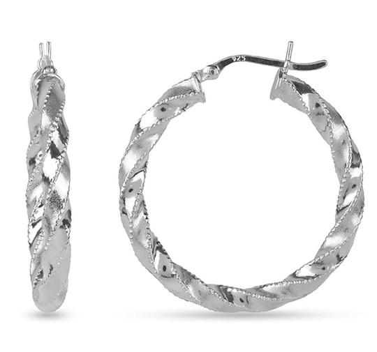Other TWISTED HOOP 1.65 INCH EARRINGS Image 4