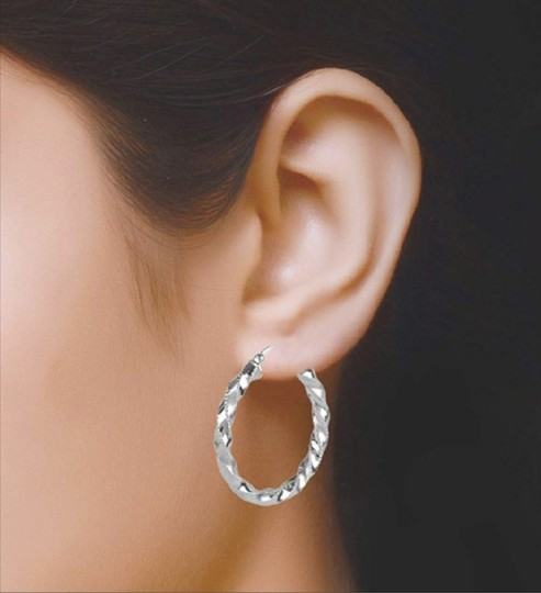Other TWISTED HOOP 1.65 INCH EARRINGS Image 6