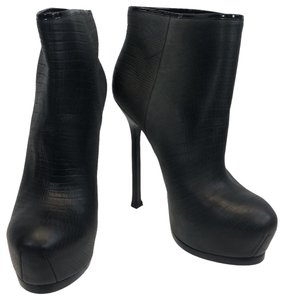 Saint Laurent Black and Grey Boots