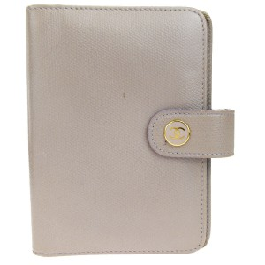 Chanel Authentic CHANEL CC Agenda Day Planner Notebook Cover Leather Beige