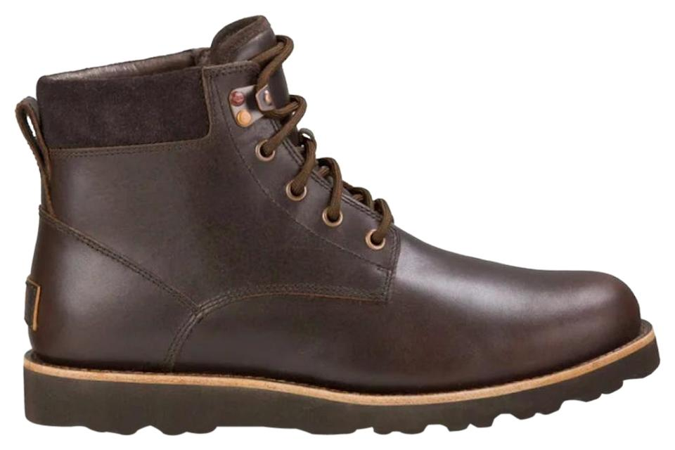 752f5d9ae71 UGG Australia Brown Leather Waterproof Lace Up Seton Tl Sheepskin Lined  **men's*** Boots/Booties Size US 10 Regular (M, B) 60% off retail