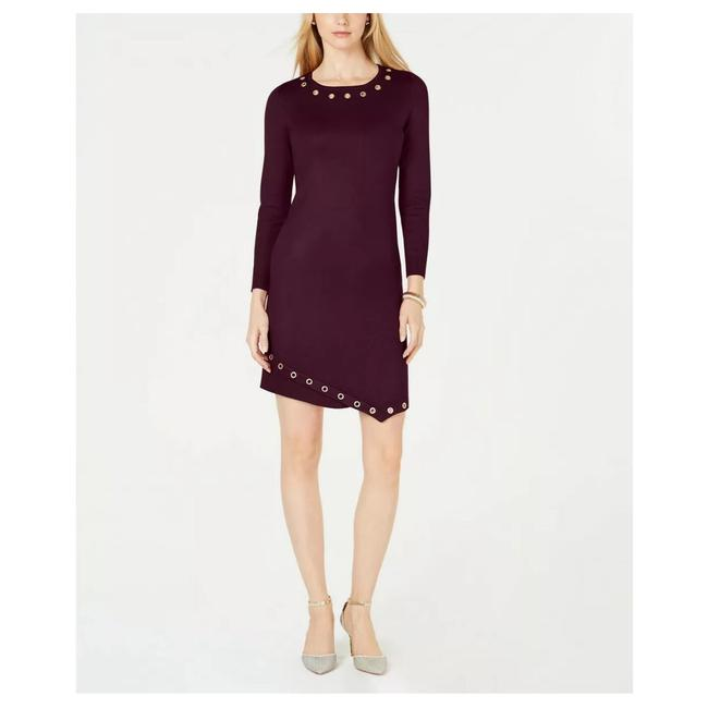 Preload https://img-static.tradesy.com/item/25657545/ny-collection-purple-sweater-short-workoffice-dress-size-petite-8-m-0-0-650-650.jpg