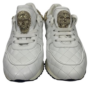 Philipp Plein White and Gold Athletic