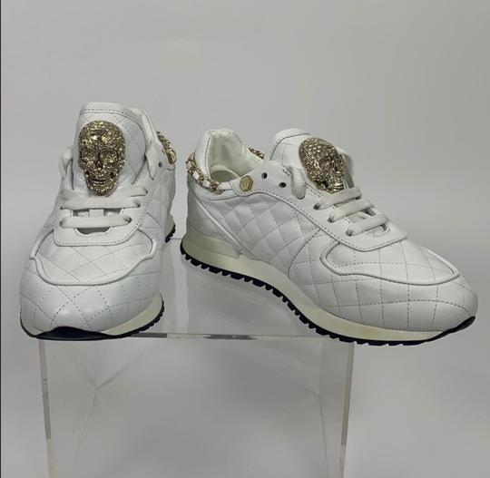 Philipp Plein White and Gold Athletic Image 1