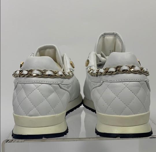 Philipp Plein White and Gold Athletic Image 2