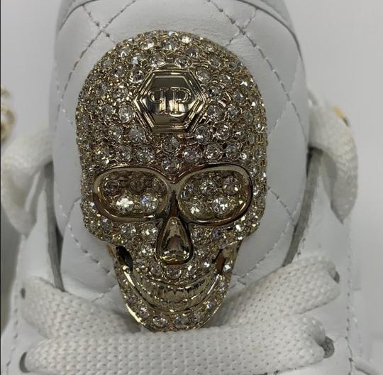Philipp Plein White and Gold Athletic Image 5
