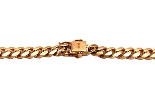 Other (2095) 14k solid Rose Gold Miami Cuban Chain Necklace Image 2