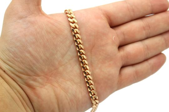 Other (2095) 14k solid Rose Gold Miami Cuban Chain Necklace Image 3