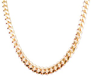 Other (2095) 14k solid Rose Gold Miami Cuban Chain Necklace